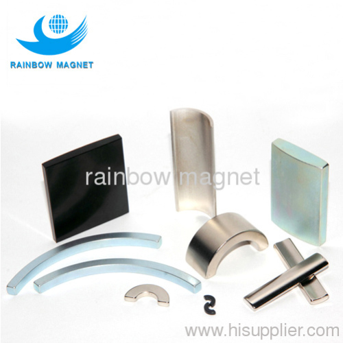 sintered ARC NdFeB Magnets. Permanent neodymium arc magnet.