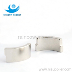 NdFeB arc magnets. permanent rare earth material arc motor