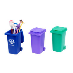 Trash can shaped pen holders