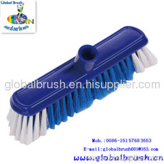 HQ0027 household plastic floor brush,outdoor brush,with hard bristle,in bright red color