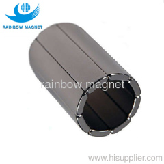 Permanent neodymium Iron Boron arc motor magnets