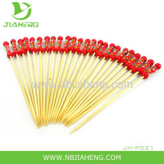 Round bamboo barbecue skewers