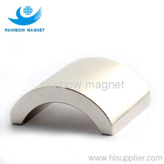 NdFeB arc magnet. permanent rare earth material arc magnet.