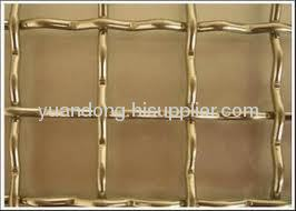 crimped brass wire mesh