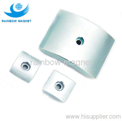 neodymium arc magnet. ndfeb magnetic arc hole countersunk