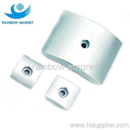 neodymium arc magnet. ndfeb magnetic arc hole countersunk