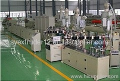 Aluminum plastic pipe production line