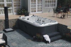 Terrace of home spa jacuzzi