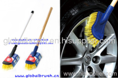 HQ0011 wet water flow car cleaning brush,plastic car wash brush,hand car brush