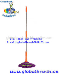 HQ521 microfiber purple spin mop,wringer mop with stainless steel handle