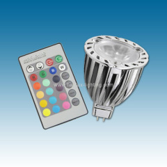 3X2W MR16 RGB Led spotlight
