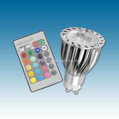 GU10 3X2W RGB Led bulb