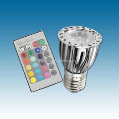 E27 RGB 3X2W LED spotlight