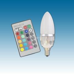 E14 3W RGB LED candle lamp