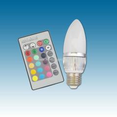 3W E27 RGB LED candle lamp