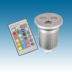 3X3W MR16/GU10 RGB Led bulb