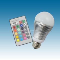 5W E27 RGB led bulb G60