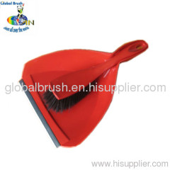 HQ0999 large heavy-duty plastic dustpan set,cleaning dust pan and brush,in bright red color