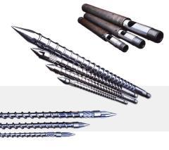PVC injection screw barrel