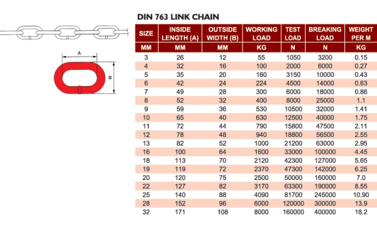 din 763 link chain from china manufacturer qingdao yongxiang