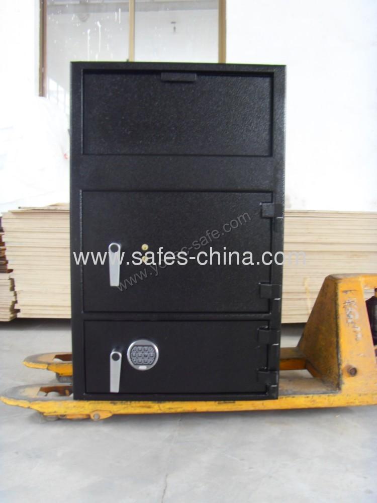 Double Door Cash Deposit Equippment With Front Loading