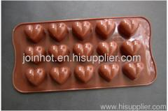 210mm 1 pattern love heart silicone chocolate mold cookie mold baking bakeware