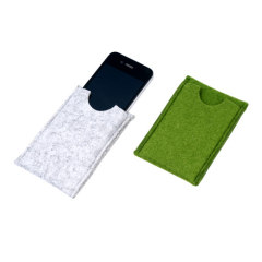 recycled felt phone bags