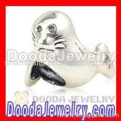 Silver european Seal Charm