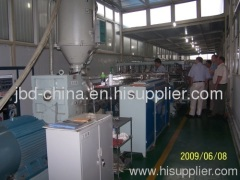 PP hollow grid sheet production line
