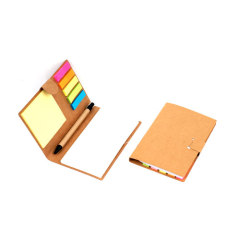 Memo pad with recycled ballpens