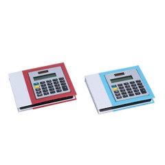 Sticky memo with calculator