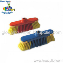 HQ0158 plastic household cleaning tool,red PP broom,floor vassoura,hand escoba,France balai with delux TPR cover