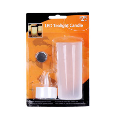 LED tea light with semitransparent candle cup