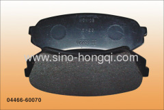 Brake pad 04466-60070 for Toyota
