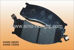 Brake pad 04465-YZZ65 for toyota