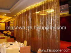 decorative window curtain metal curtain