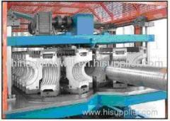 Horizontal type Double Wall Corrugated PE Pipe Extrusion lin