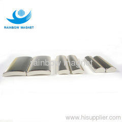 Permanent neodymium segment magnets. arc ndfeb magnets