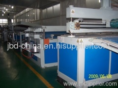 PC hollow grid plate extrusion machine