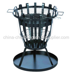 baskets shape steel BBQ fire pits