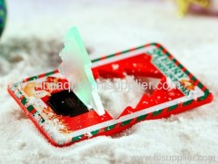 pocket card LED night light-christmas tree