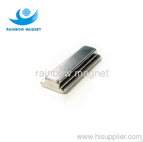 trapezia with groove magnet.strong neodymium magnet