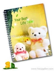 3d lenticular notebook journal diary notebook