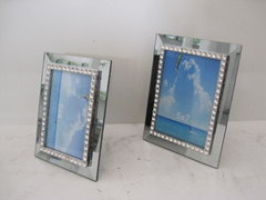Mirrored Glass Photo Frame
