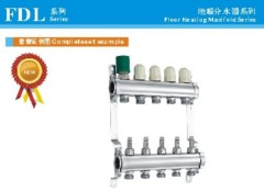 FDL series stainelss steel manifold for floor systems