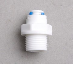 water filter connector plastic male straight quick adapter