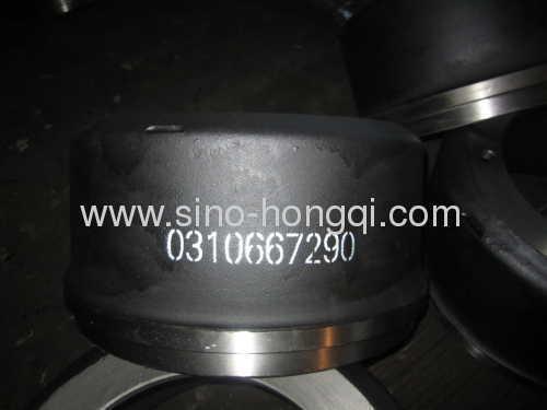 Brake drum 0310667290 for BPW