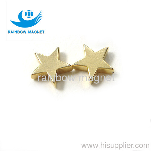 star ndfeb magnets.jewelry magnets.gloden coating ndfeb