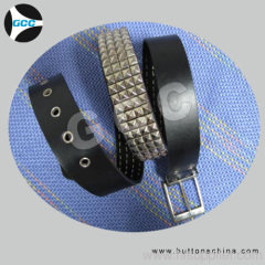 jeans pu belt with rilievo finshing