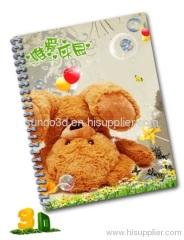 3D lenticular Notebook